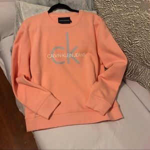 CALVIN KLEIN JEANS Pink Crew Neck Sweater